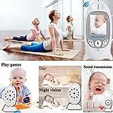 Babyphone mit Kamera Video Überwachung Baby Monitor Wireless 3.2' TFT LCD Digital dual Audio Funktion,Temperatursensor, Schlaflieder, Nachtsicht,...