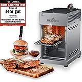 GOURMETmaxx Beef Maker   Oberhitze Gasgrill aus Edelstahl für Temperaturen bis zu 800° C   Hochleistungs Gas Grill für Steaks wie vom Profi