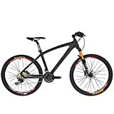 beiou Non-Vibrato Mountain Bike Shimano-Deore 30 Speed Toray T800 Carbon Faser MTB 10.65 kg Ultralight Rahmen rt 26 Räder CB024 schwarz matte black 19-Inch