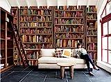 MYLOOO Tapete 3D Vintage Buchwand Tapete-Moderne Wanddeko-Design Tapete-Wandtapete-Wand Dekoration