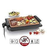 GOURMETmaxx Tischgrill elektrisch Tisch Elektrogrill für Draußen und Drinnen, Grill Platte mit zwei Garbereichen   Keramik Antihaftbeschichtung, max. 220 °C,...