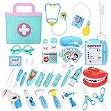 NextX Arzt Medizinisches Spielzeug Kinder 35 Teile Arztkoffer Doktor Spielset Rollenspiel Geschenke für Mädchen und Jungen