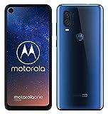 Motorola One Vision Dual-Sim Smartphone (6, 3 Zoll Display, 48-MP-Sensor, 12-MP- + 5-MP-Dual-Kamera, 128 GB/4 GB, Android 9.0) blau + Schutzcover