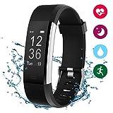 Fitness Armband Herzfrequenz Aktivität Armband Winisok IP67 Fitness Tracker Smart Armband Wasserdicht Herzfrequenzmesser mit Pulsmesser Aktivitätsmonitor Schrittzähler Kalorien-und Schlaf Bluetooth-Armband Kompatibel mit iOS und Android mit APP auf Deutsch