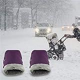 ZuoLan Kinderwagen Handwärmer Handschuhe Wasserdicht Winddicht Fahrräder Elektroauto Golfwagen Winter Handschuhe (Lila)