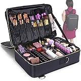 Lifewit Kosmetikkoffer Make Up Tasche Schminkkoffer Professionelle Kosmetiktasche Beauty Case Reisengepäck mit verstellbaren Trennern, Reisetasche Organisiertasche mit Bürstenhalter, schwarz