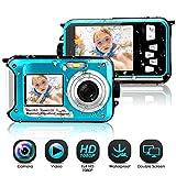 Unterwasserkamera wasserdichte 1080P FHD 24 MP Unterwasser Camcorder Dual Screen Videokamera Digitalkamera Selfie