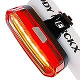 Mochatopia COB LED Fahrrad Rücklicht USB Aufladbare Akku, Wiederaufladbar Rot Lichter Super Hell In Nacht Clip 650 Mah Batterie für Außen