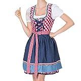QAQBDBCKL Schöne Frauen Bandage Mini Dress Mode Schürze Bayerischen Oktoberfest Kostüme Bardame Dirndl Damen Dress