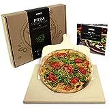 #benehacks Pizza Propria Pizzastein für Backofen & Grill - Set inkl. Pizza-Rezeptbuch & Pizzaheber & Geschenkverpackung