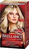 Schwarzkopf Brillance Intensiv-Color-Creme 811 Scandinavia Blond Stufe 3, 3er Pack (3 x 143 ml)