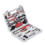 Yorbay Fahrrad Werkzeugkoffer 48 tlg. Werkzeugset im praktischen Tragekoffer zur Fahrradreparatur und Montagearbeiten zu Hause