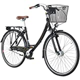28 Zoll Viking Prelude Citybike Stadt Fahrrad Licht 3 Gang Nexus, Farbe:Schwarz