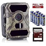 SecaCam HomeVista Full HD Profi Outdoor Überwachungskamera Wildkamera Nachtsicht 100° Weitwinkel 12 MP 1080P wasserdicht kabellos 0,4 Sekunden Auslösezeit,...