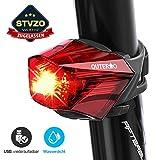 OUTERDO Fahrrad Rücklicht,StVZO Zugelassen Fahrradrücklicht Hohe Qualität Ultra Hell Fahrrad Licht, Fahrradlampe Aufladbar,Fahrradbeleuchtung LED USB...