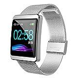 CanMixs Fitness Armband, CM11 Wasserdicht IP67 Fitness Tracker Farbbildschirm Smartwatch Aktivitätstracker Schrittzähler Uhr mit Stoppuhren Vibrationsalarm...