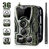 DJW 3G Wildkamera Fotofalle 16MP 1080P mit Handy übertragung, Jagdkamera mit Bewegungsmelder 36 Pcs Low-Glow 940nm Infrarot-LEDs, Infrarot-Nachtsicht 65ft/20m,...