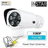 INSTAR IN-9008 Full HD (PoE) weiss - PoE Überwachungskamera - IP Kamera - wetterfeste Außenkamera - Aussen - Alarm - PIR - Bewegungserkennung - Nachtsicht -...