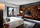 MYLOOO Fototapeten 3D Effekt Vintage Buchwand Wand Schlafzimmer Wohnzimmer Dekoration