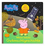 Peppa Pig: Meine liebste Gutenachtgeschichte: Pappbilderbuch mit Klappen und Taschenlampe