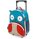 Skip Hop Zoo Luggage, Reisetrolley für Kinder, mit Namensschild, mehrfarbig, Eule Otis