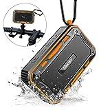 Bluetooth Lautsprecher Wasserdicht mit FM Radio für Outdoor und Indoor, VANZEV Tragbar Lautsprecher Außen Wireless Bluetooth Box mit Stereo Klang und Bass, geeignet für Fahrrad-Fahren, Party, Strand, Reise