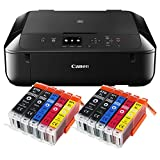 Canon Pixma MG5750 MG-5750 All-in-One Farbtintenstrahl-Multifunktionsgerät (Drucker, Scanner, Kopierer, USB, WLAN, Apple AirPrint) schwarz + 20er Set IC-Office...