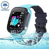 Jaybest Kinder Smartwatch IP68 imprägniern LBS Tracker,Touch LCD Kid Smart Watch für Jungen Mädchen mit SOS Anruf Kamera Anti-Lost Voice Chat(Blue)