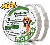 ProHomer Zeckenhalsband für Hunde, Zeckenhalsband Hunde, Passend für Kleine, Mittlere und Große Hunde, Verstellbare/Wasserdichte/Hypoallergen(Grau, 63cm) (2 PCS)