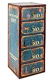 ts-ideen Kommode Regal Schrank Vintage Antik Buch Design Standregal 30 cm x 73 cm Shabby Used Style