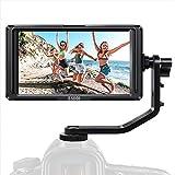 Kamera Monitor-ESDDI F5 5 Zoll Full HD IPS Bildschirm Monitor unterstützt 4K HDMI Input 1920x1080 wiederaufladbarer Li-ion Akku inklusive USB-Akkuladegerät...