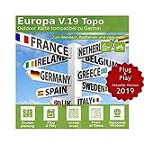 Europa V.19 - Profi Outdoor Topo Karte - Passend für Edge 1030, Edge Touring, Edge Touring Plus & Epix