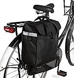 Gepäckträgertasche Fahrradpacktasche mit Tragefunktion Fahrradtasche schwarz mit Henkel