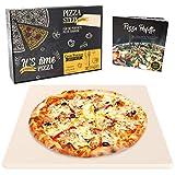 Garcon Pizzastein für Backofen, Grill & Gasgrill - Pizza wie beim Italiener - Pizza Stein inkl. Geschenk Verpackung