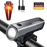 LifeBee LED Fahrradlicht Set, StVZO Zugelassen USB Wiederaufladbare Fahrradbeleuchtung fahrradlichter Set, IPX5 Wasserdicht Frontlicht Rücklicht Fahrradlampe...