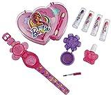 Happy People 52014 Barbie Schminkset Doppelherz, für Mädchen, zum Aufklappen, Make-Up Zubehör