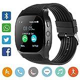 Smart Watch CanMixs CF02 Unterstützung SIM TF-Karte, Armbanduhr mit Kamera, Schrittzähler, Schlaf-Monitor, Message Sync Notifier, Musik-Player, sesshaft für Android Samsung Huawei, HTC, ZTE (schwarz)