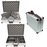 TS-Optics FOTO-KOFFER Alu-Koffer mit Rasterschaumstoff und 5 Trennstegen ca. 46x33x15cm, mit Schultergurt, Alucase