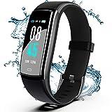 Winisok Fitness Armband mit Blutdruckmessung Pulsmesser, Fitness Tracker Uhr Wasserdicht IP67 Schrittzähler Uhr Stoppuhr Sport GPS Aktivitätstracker...