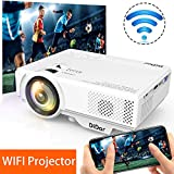 [WiFi Beamer] DIDAR Wireless Mini Beamer 3500 Lumen Mini WiFi Projektor, Video Beamer unterstützt Airplay Miracast DLNA und 1080P HD, Kompatibel mit HDMI VGA...