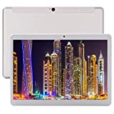 10 Zoll Tablet PC( 10.1' Android 8.0,6GB RAM, 64GB interner Speicher 2.8GHZ,Deca-Core, IPS HD 1920x1200,4G LTE Dual-SIM, WiFi, Bluetooth,GPS,OTG) (Silver)