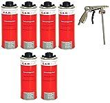 6x CARFIT Unterbodenschutz/Steinschlagschutz schwarz + Pistole