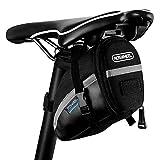otutun Fahrrad Satteltasche, wasserdichte Rahmentasche Fahrradtasche Tasche Mountainbike Bag mit Rücklichthalter und reflektierende Elemente für Mountainbikes, Fahrräder, und Rennräder - Schwarz