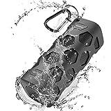 Bluetooth Lautsprecher Wasserdicht, 20W Tragbarer Bluetooth Lautsprecher Outdoor, 5200mAh Dual-Treiber Stereo Kabelloser Bluetooth Lautsprecher mit Extra Bass & Ingebauten Mikrofon, 24 Stunden Spielzeit, für Pool, Strand