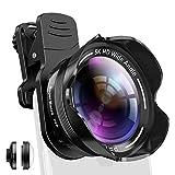 Handy Kamera Objektiv Set Phone Camera Kit mit Makro und 5K 0.56X-fachem Weitwinkelobjektiv für iPhone X XR XS Max 8 7 6S Plus, Samsung Note 9 und Android...
