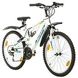 Multibrand, PROBIKE SPEED 24, 24 Zoll, 330mm, FSP Mountainbike, 18 Gang, Unisex, Kotflügel Set, Weiß Matt