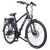 NCM Hamburg E-Bike City Rad, 250W, 36V 13Ah 468Wh Akku, 28' Zoll (28' Schwarz)
