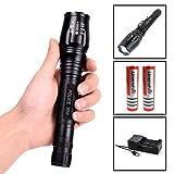 Polizei Swat Led Cree Taschenlampe Zoom XM-L T6 50W 5000 Lumen inkl.2x PowerAkku Mega Leuchtweite / 5 Funktionen