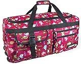 normani Extra große und leichte Reisetaschen mit Trolleyfunktion in edlem Design Farbe Eule