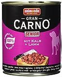 Animonda GranCarno Hundefutter Original Senior Rind + Lamm, 6er Pack (6 x 800 g)